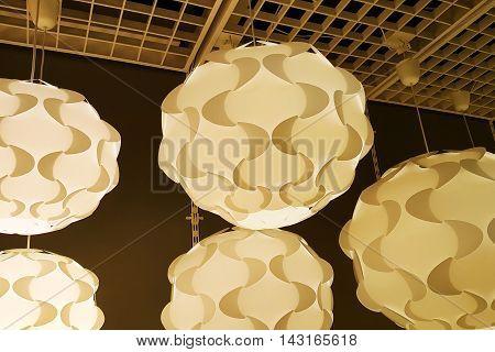 Modern Plastic Chandelier Ceiling Lighting