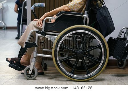 wheel chair in hospital some people can't walk