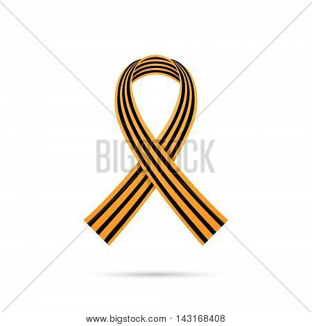 St. George ribbon on white background 9 may victory day symbol vector illustration eps 10