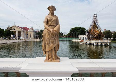 Angel Statue At Bang Pa-in Palace