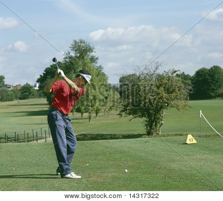 golfer playing a shot
