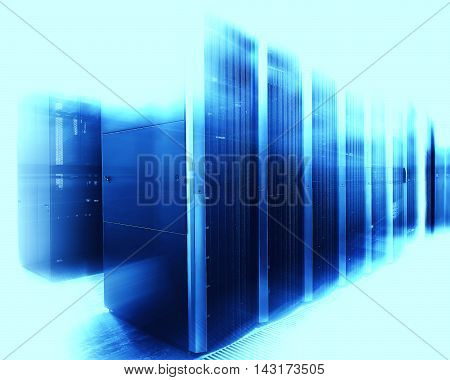 communication server center with abstract motion in tone