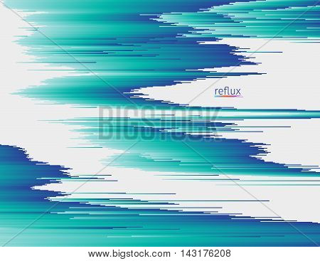 Glitched linear gradient structure. Random digital signal error. Flowing colorful shapes. Modern abstract background. Element of design for a poster cover invitation business card postcard or web.
