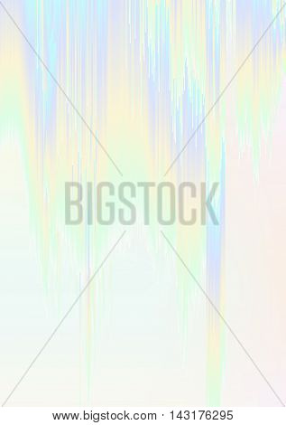 Abstract background illustration with sliced gradient stripes. Glitched colorful holographic surface. Flowing digital screen error. Element of design for a poster cover invitation postcard or web.