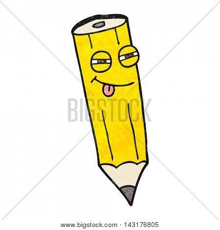 happy freehand drawn texture cartoon sly pencil