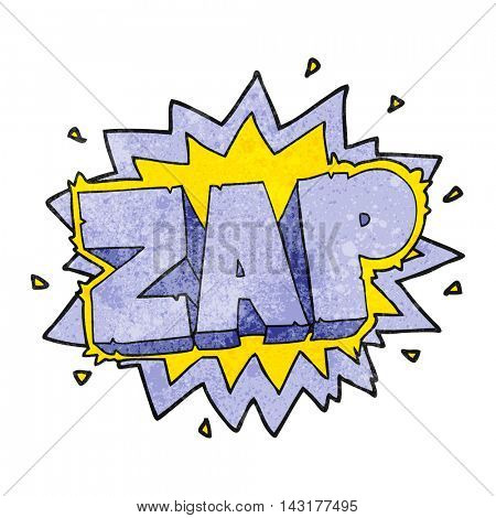 happy freehand texture cartoon zap explosion sign