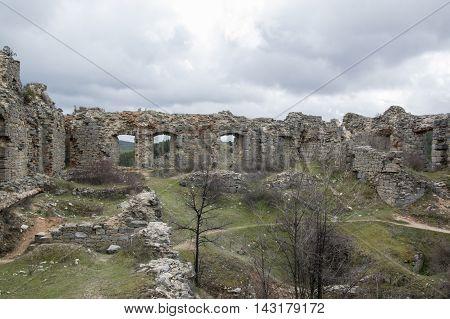 Inside the castle of San Leonardo de Yague