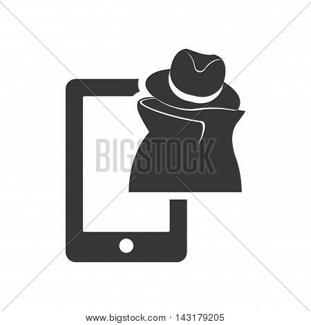 thief smartphone money financial commerce icon. Flat and Isolated design. Vector illustration