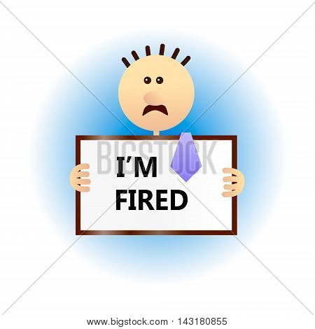Concept of economic problem such as a firing job an unemployment. Severe financial situation. Money problems a crisis. Flat style vector illustration.