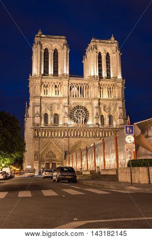 PARIS FRANCE - MAY 07 2015: Notre-Dame de Paris (French for