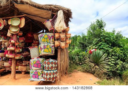 Soevenirs At A Market In Madagascar