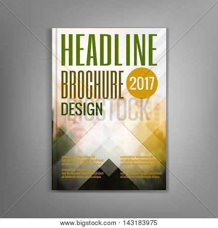 Design magazine cover template with white stripes, flyers, leaflets, presentation covers, the annual report. Modern dynamic design. Vector illustration.