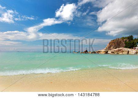 The Paradise beach. at Koh Samui in suratthani ,Thailand
