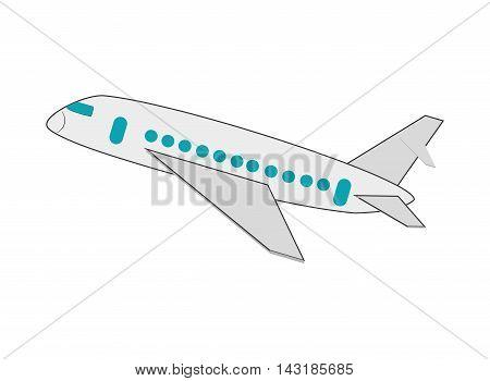 flat design single airplane icon vector illustration