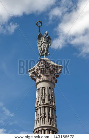 Column of Glory in honor of the victory in Russo-Turkish War front of the Trinity Cathedral Saint Petersburg