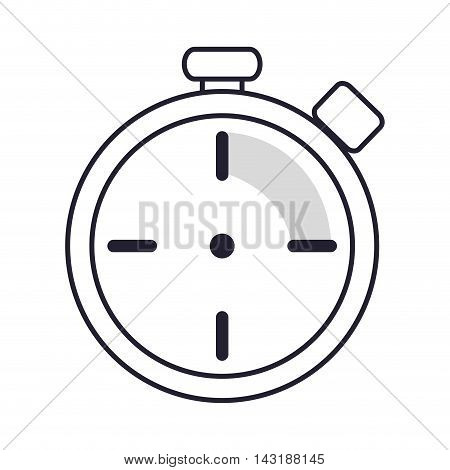 flat design analog chronometer icon vector illustration