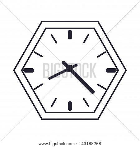 flat design wall clock icon vector illustration