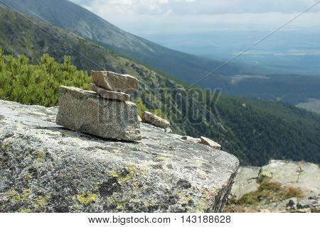 stone balance pyramid from Slovakia rep, Solisko