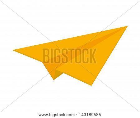 flat design paper plane icon vector illustration