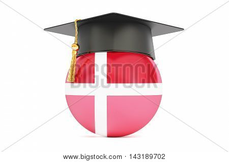 education and study in Denmark concept 3D rendering isolated on white background