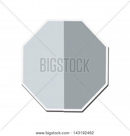 flat design blank octagon icon vector illustration
