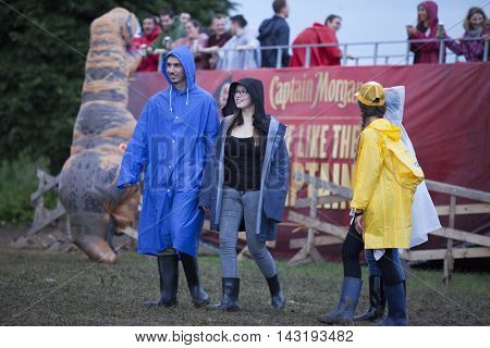 Bontida, Romania - July 17, 2016: People having fun at Electric Castle Festival, one of the biggest music festivals in Romania