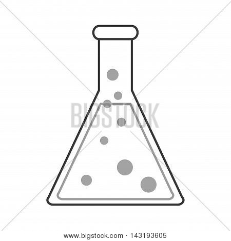 flat design Conical flask icon vector illustration