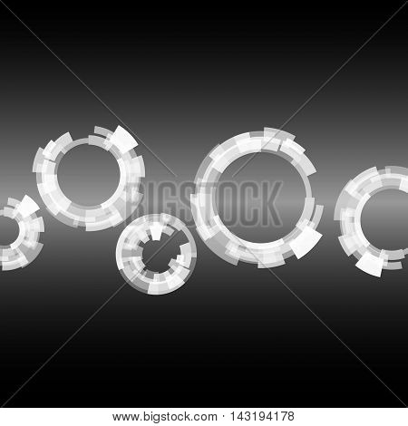 Abstract vector round shapes. Futuristic technology Geometric Modern Concept