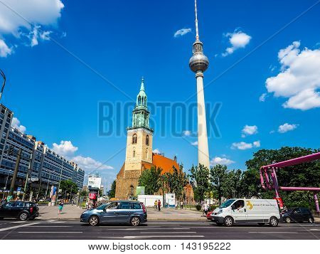 Alexanderplatz In Berlin (hdr)