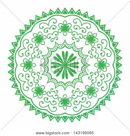 Floral mehendy lower pattern ornament. Vector illustration