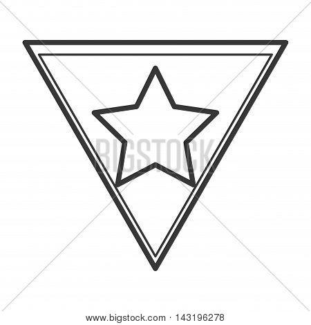 star shield superhero superman hero anime icon. Flat and Isolated illustration. Vector illustration