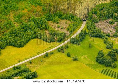 Tunnel On The Norwegian Mountain Road
