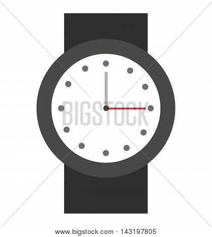 time clock watch icon vector illustration design