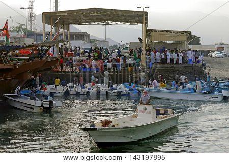 Dibba / Oman - JUNE 09, 2015 - Port of Dibba, OMAN.