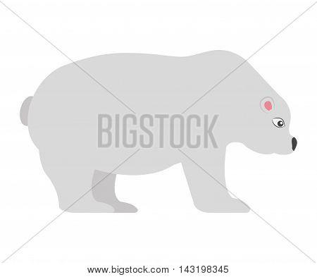 polar bear isolated icon vector illustration design
