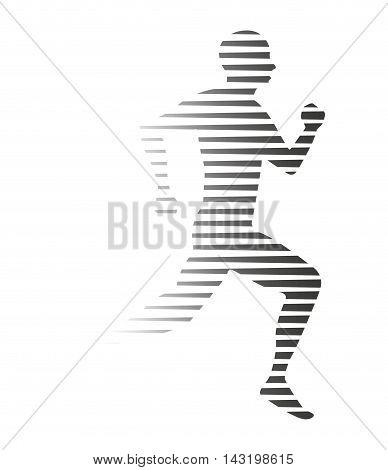 silhouette athlete running isolated icon vector illustration design