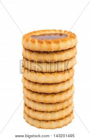 Cookies small snack isolated on white background