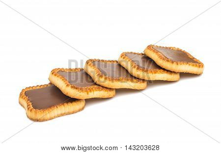 jam tartlets traditional isolated on white background.
