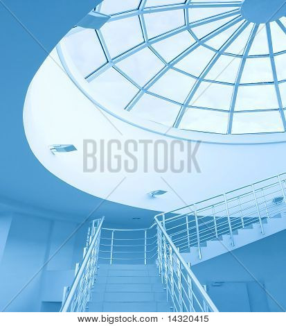 Architectural Limpid Round Ceiling With Stair