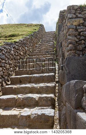 Stone Steps In Peru
