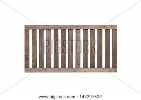 Wood fence isolated on white background Wood fence Brown wood frence