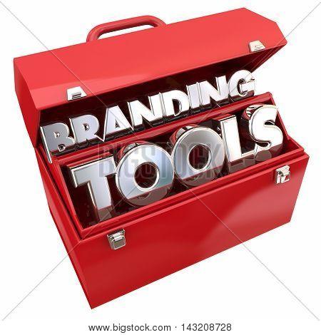 Branding Tools Marketing Company Business Awareness Toolbox 3d Illustration
