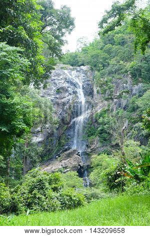 Klonglan waterfall The famous waterfall in Kamphaeng Phet province National Park Thailand