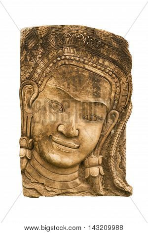Sandstone Carvings Face Woman2