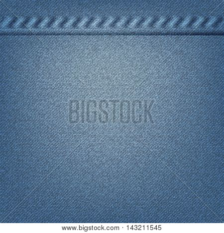 Denim texture. Jeans texture background. Vector illustration
