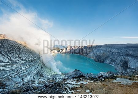 Panoramic, Kawah Ijen popular landmark in indonesia