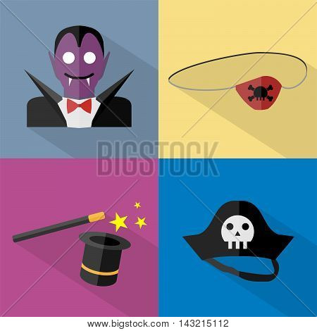 Halloween   Set of great flat icons with style long shadow icon and use for halloween, holiday, culture, event and much more.