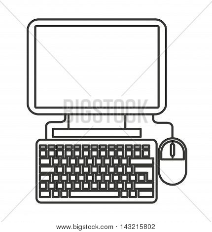 desktop computer desktop icon vector isolated design