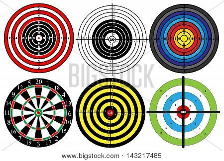 a large set of different targets vector