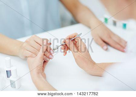 Manicure care procedure